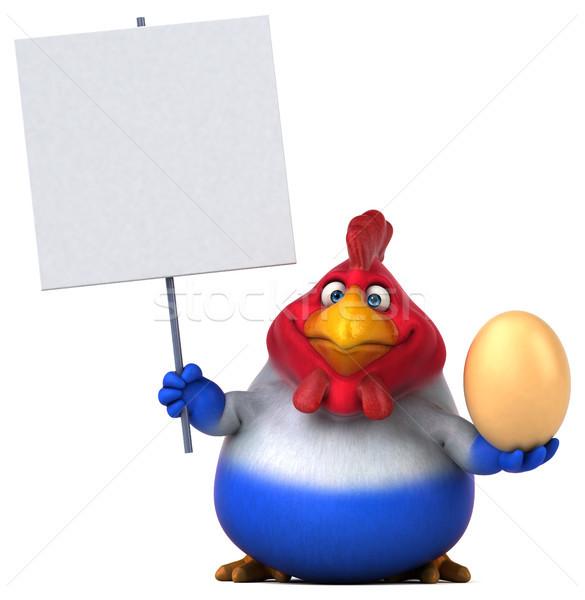 Fransız civciv 3d illustration dizayn kuş tavuk Stok fotoğraf © julientromeur