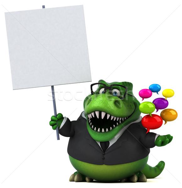 Foto stock: Diversão · ilustração · 3d · negócio · empresário · financiar · dentes