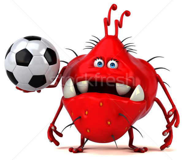 Leuk kiem 3d illustration sport bal grafische Stockfoto © julientromeur