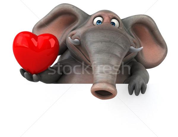 Zabawy słoń 3d ilustracji dżungli zwierząt graficzne Zdjęcia stock © julientromeur