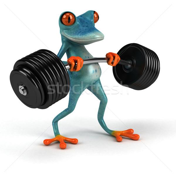 Eğlence kurbağa 3d illustration spor çevre örnek Stok fotoğraf © julientromeur