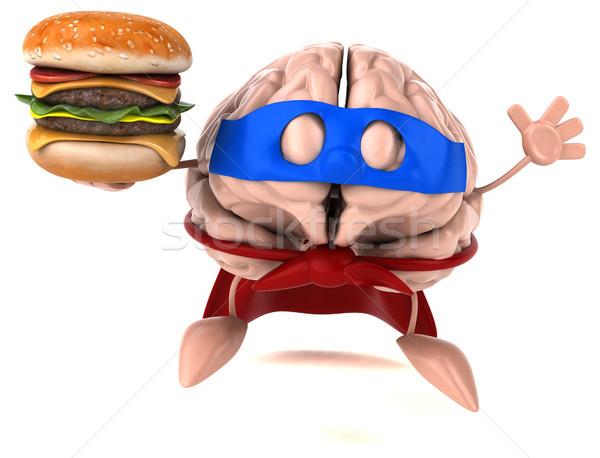 мозг цифровой думать человека быстрого питания диета Сток-фото © julientromeur