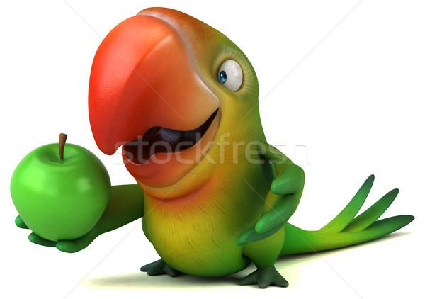 Leuk papegaai oog vruchten vogel groene Stockfoto © julientromeur