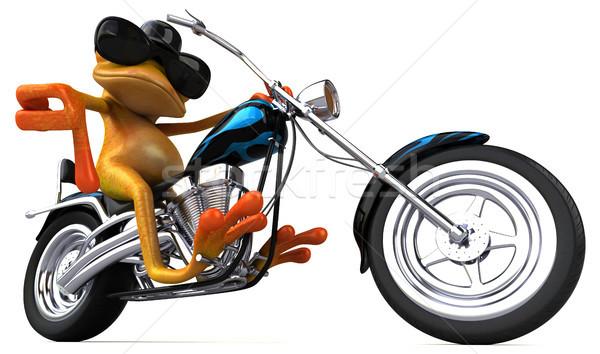 Diversión rana 3d diseno moto viaje Foto stock © julientromeur