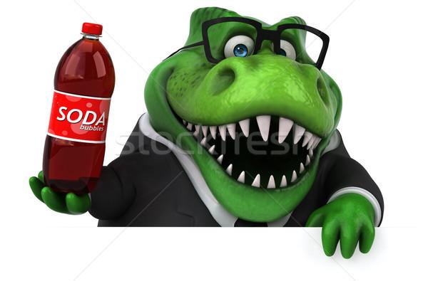 Zabawy 3d ilustracji działalności biznesmen pić finansów Zdjęcia stock © julientromeur