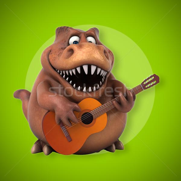 Eğlence 3d illustration konser dişler caz hayvan Stok fotoğraf © julientromeur