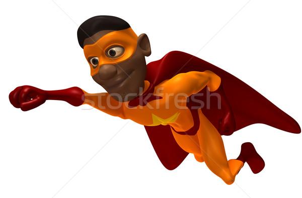 Stok fotoğraf: Süper · kahraman · eğlence · kırmızı · maske · çizme · örnek