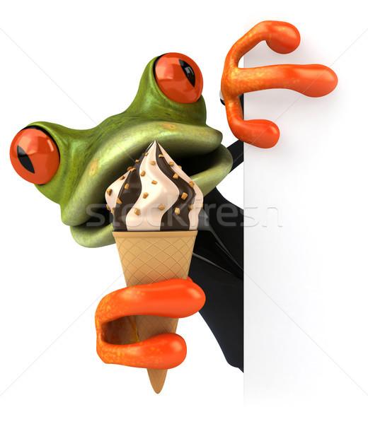 Jókedv béka csokoládé zöld trópusi 3D Stock fotó © julientromeur