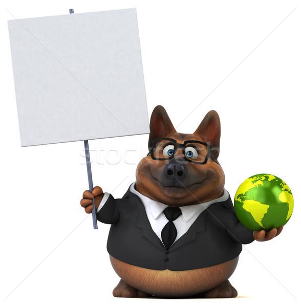 羊飼い 犬 3次元の図 スーツ 惑星 動物 ストックフォト © julientromeur