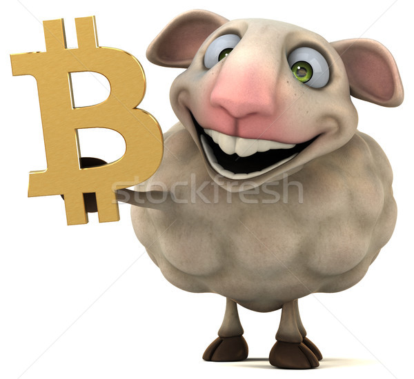 Sheep and bitcoin - 3D Illustration Stock photo © julientromeur