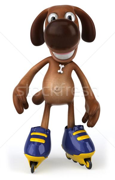 Zdjęcia stock: Zabawy · psa · psów · skate · zwierząt · zwierzęta