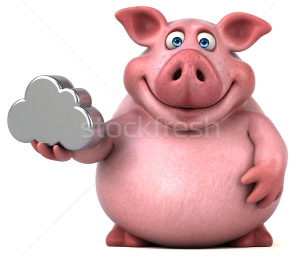 весело свинья 3d иллюстрации продовольствие цифровой жира Сток-фото © julientromeur