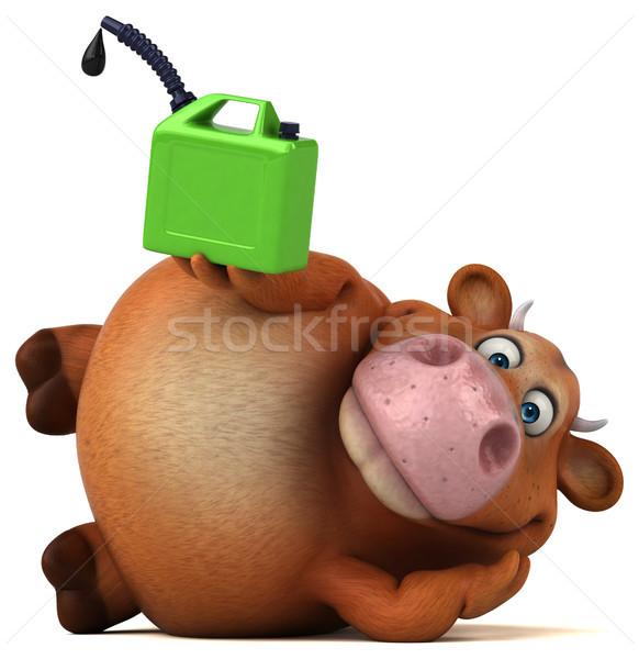 Eğlence inek 3d illustration doğa yeşil çiftlik Stok fotoğraf © julientromeur