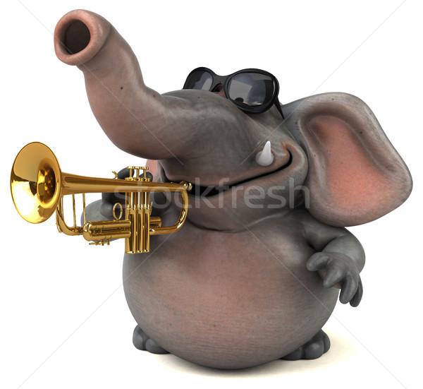 Zabawy słoń 3d ilustracji koncertu Afryki zwierząt Zdjęcia stock © julientromeur