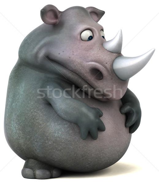ストックフォト: 楽しい · サイ · 3次元の図 · 脂肪 · 動物 · インド