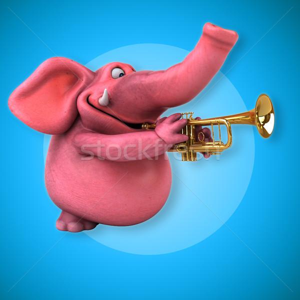Rosa elefante illustrazione 3d birra Crazy band Foto d'archivio © julientromeur