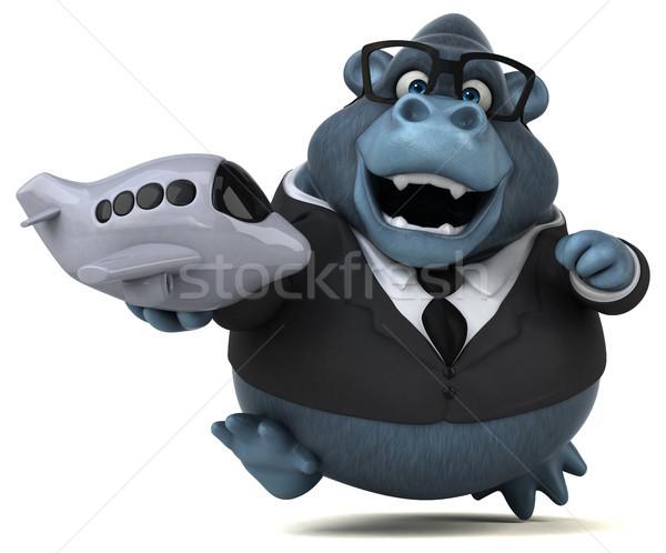 Eğlence goril 3d illustration gözlük seyahat takım elbise Stok fotoğraf © julientromeur