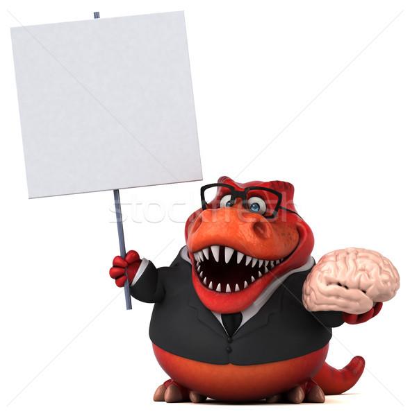 Eğlence 3d illustration iş işadamı beyin finanse Stok fotoğraf © julientromeur