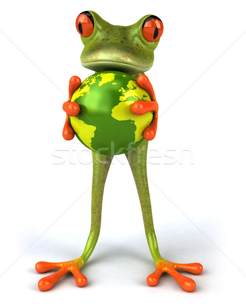 Frog and world Stock photo © julientromeur
