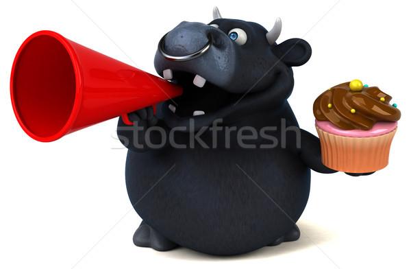 黒 牛 3次元の図 髪 チョコレート 牛 ストックフォト © julientromeur