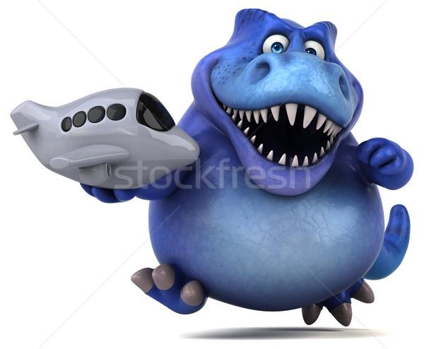 Eğlence dinozor 3d illustration seyahat dişler uçmak Stok fotoğraf © julientromeur
