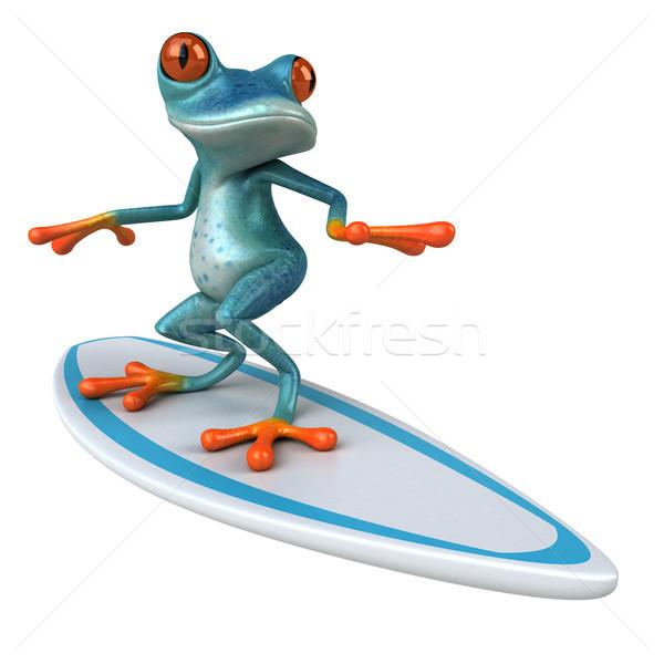 Jókedv béka 3d illusztráció állat szörfözik környezet Stock fotó © julientromeur