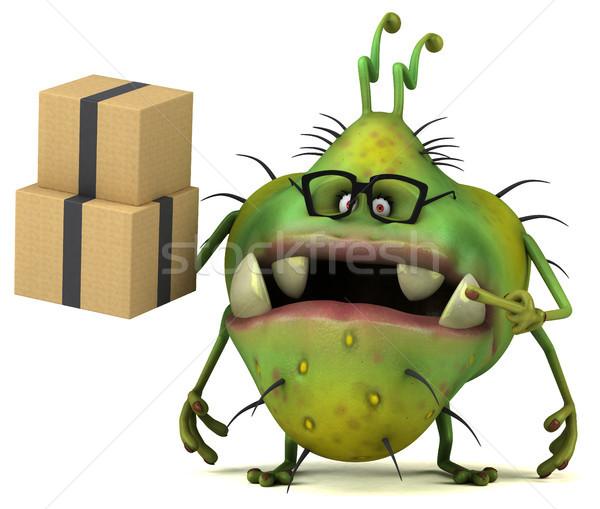 Jókedv bacilus 3d illusztráció egészség doboz rajz Stock fotó © julientromeur