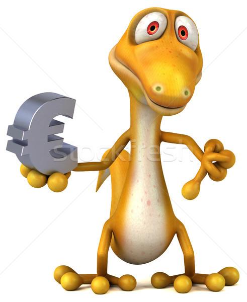 Leuk hagedis geld kleur dier dinosaurus Stockfoto © julientromeur