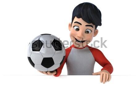 вампир футбола искусства рот мяча губ Сток-фото © julientromeur