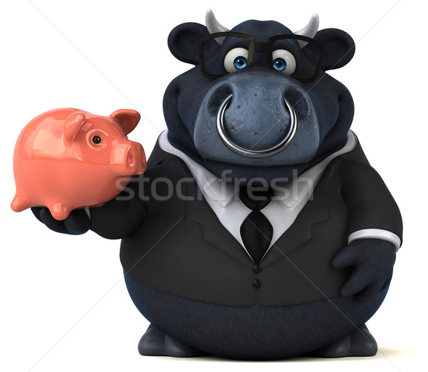 Black bull - 3D Illustration Stock photo © julientromeur
