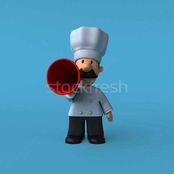 Jókedv szakács 3d illusztráció étel étterem állás Stock fotó © julientromeur