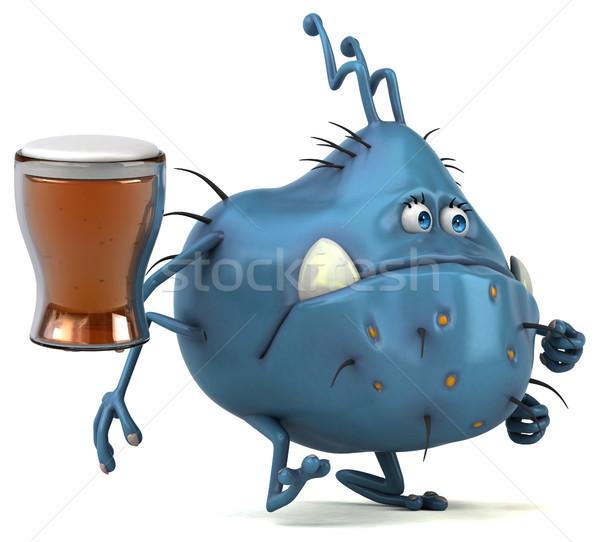 Jókedv bacilus 3d illusztráció sör egészség grafikus Stock fotó © julientromeur