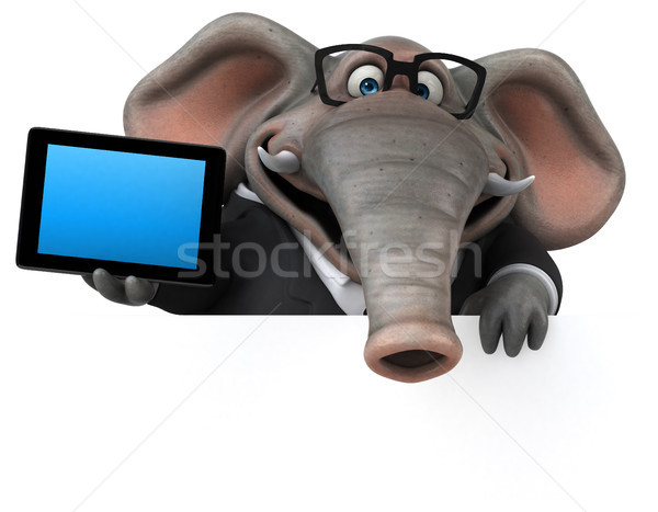 Amusement éléphant 3d illustration affaires affaires Afrique Photo stock © julientromeur