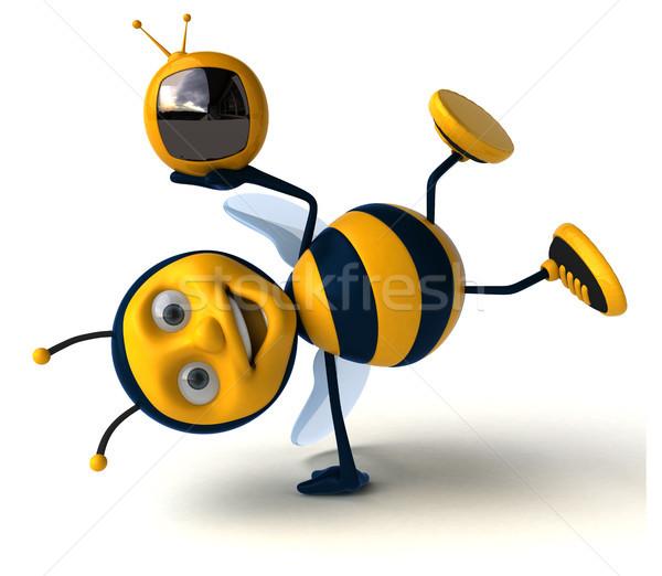 Leuk bee scherm werknemer media honing Stockfoto © julientromeur