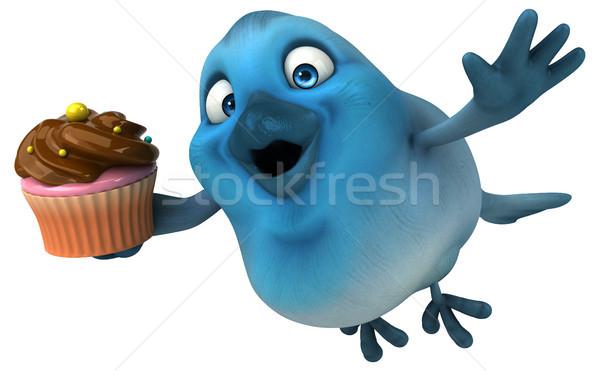 Blauw vogel communicatie cartoon suiker sociale Stockfoto © julientromeur