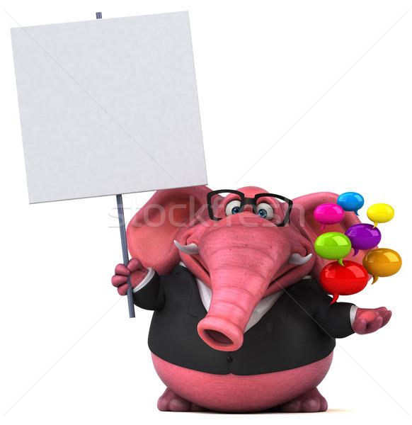 Rosa elefante ilustração 3d cerveja terno comunicação Foto stock © julientromeur