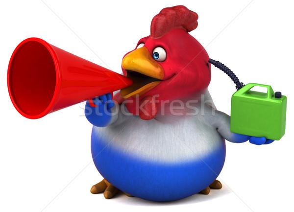 Zabawy kurczaka 3d ilustracji ptaków czerwony mięsa Zdjęcia stock © julientromeur