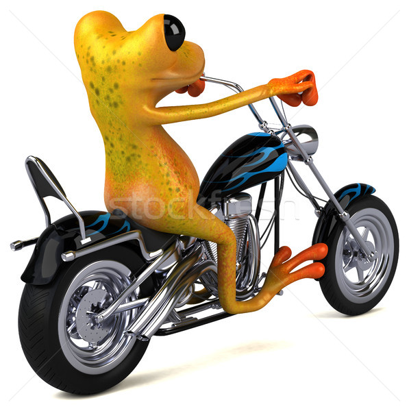 Leuk kikker 3d illustration fiets reizen snelheid Stockfoto © julientromeur