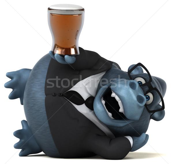 Diversión gorila 3d cerveza traje animales Foto stock © julientromeur