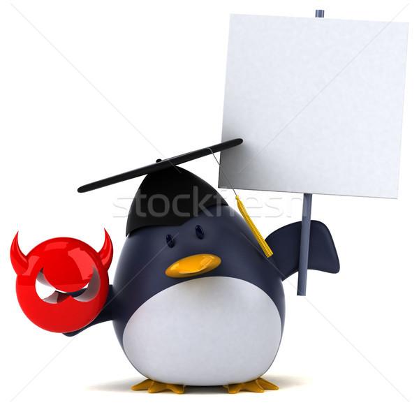 楽しい ペンギン 3次元の図 鳥 面白い 脂肪 ストックフォト © julientromeur