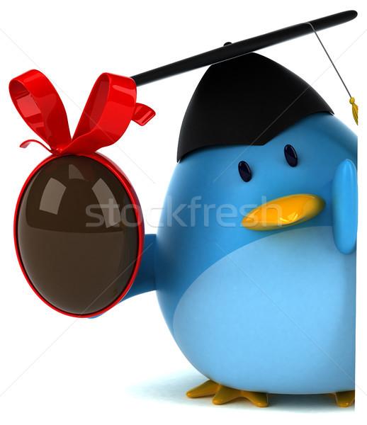 Niebieski ptaków 3d ilustracji Wielkanoc Internetu czekolady Zdjęcia stock © julientromeur