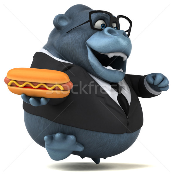 Leuk gorilla 3d illustration zakenman pak dier Stockfoto © julientromeur