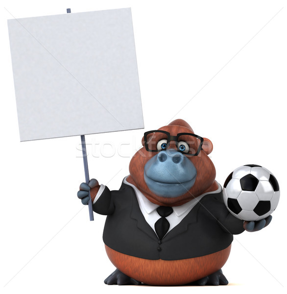 Eğlence 3d illustration iş futbol doğa futbol Stok fotoğraf © julientromeur