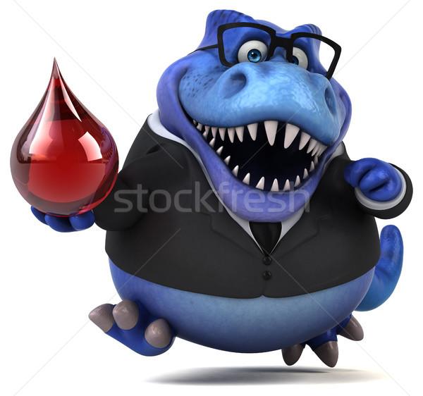 Divertimento illustrazione 3d business sangue imprenditore rosso Foto d'archivio © julientromeur