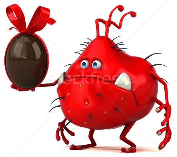 Leuk kiem 3d illustration chocolade grafische cartoon Stockfoto © julientromeur