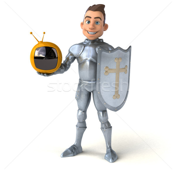Diversão cavaleiro tela digital soldado mídia Foto stock © julientromeur