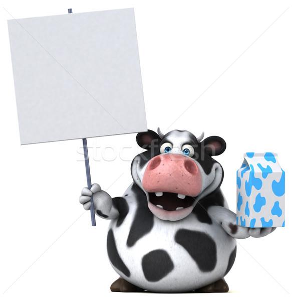 Eğlence inek 3d illustration doğa saç çiftlik Stok fotoğraf © julientromeur