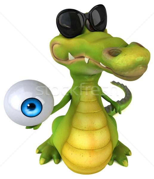 Krokodil eğlence göz mutlu dizayn sanat Stok fotoğraf © julientromeur