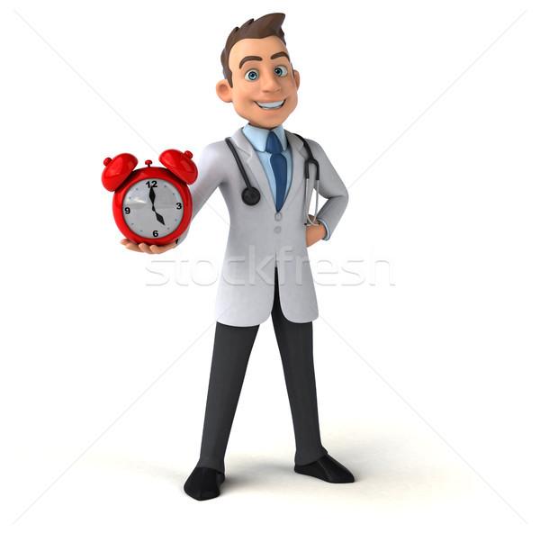 Amusement médecin horloge coeur santé hôpital Photo stock © julientromeur