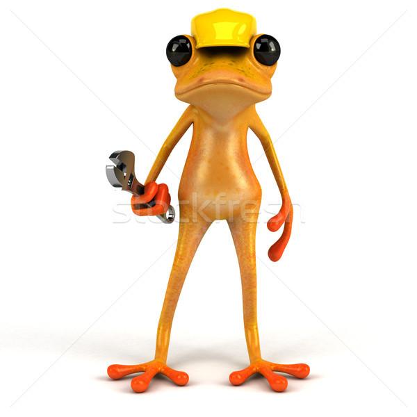 Fun frog - 3D Illustration Stock photo © julientromeur